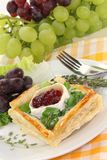 Goat cheese tartlet Royalty Free Stock Photo