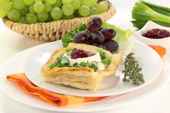 Goat cheese tartlet Royalty Free Stock Images