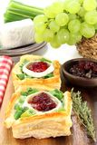 Goat cheese tartlet Royalty Free Stock Photography