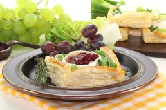 Goat cheese tartlets Stock Image