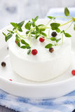 Goat cheese and thyme Stock Photos