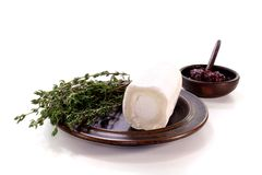 Goat cheese with thyme Royalty Free Stock Image