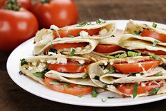 Goat Cheese and Tomato Quesadillas Royalty Free Stock Photo