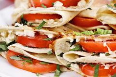 Goat Cheese and Tomato Wraps Stock Image