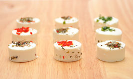 Goat Cheese With Herbs Royalty Free Stock Images