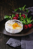 Goat Cheese With Honey And Raspberries Stock Images
