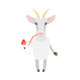 Goat with a cocktail Royalty Free Stock Images