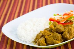 Goat Curry with Rice Royalty Free Stock Image