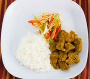 Goat Curry with Rice Royalty Free Stock Images
