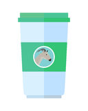 Goat Dairy Product Flat Style Illustration Royalty Free Stock Image