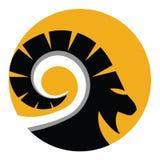 Goat emblem Stock Image