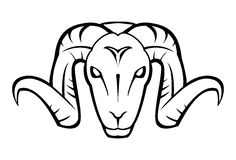 Goat face. Illustrator desain .eps 10 Stock Photography