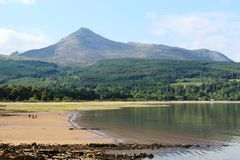 Goat Fell and Brodick Bay, Isle of Arran, Scotland Royalty Free Stock Photos
