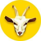Goat head polygonal Stock Photo