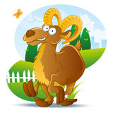 Goat Illustration Cartoon Royalty Free Stock Image