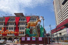 Goat lantern displayed for Chinese New Year Celebration for year Stock Photography