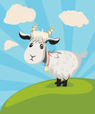 Goat on Lawn vector illustration