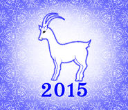 Goat on a light purple background Royalty Free Stock Images