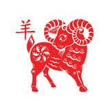 Goat Lunar symbol Royalty Free Stock Images