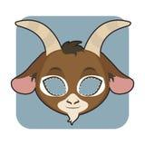Goat mask for festivities Stock Photos