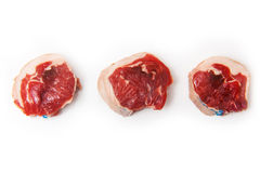 Goat Meat Noisettes in a Row royalty free stock image