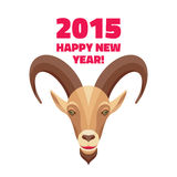 Goat - Merry Christmas and Happy New Year 2015 illustration Stock Photo