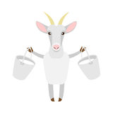 Goat with milk. Illustration of a goat on a white background Royalty Free Stock Images