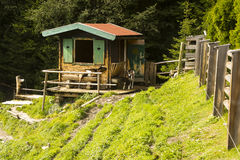 Goat pen, Lake Speicher Durlassboden Austria Stock Photo