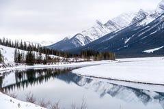 Goat Pond in Kananaskis Country. In winter, Alberta, Canadae Stock Photo