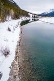 Goat Pond in Kananaskis Country. In winter, Alberta, Canadae Stock Photos