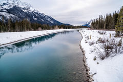 Goat Pond in Kananaskis Country. In winter, Alberta, Canadae Royalty Free Stock Images