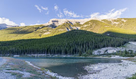 Goat pond and Spray Lakes Reservoir Canmore Alberta Canada Stock Photos