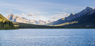 Goat pond and Spray Lakes Reservoir Canmore Alberta Canada Stock Photo