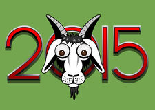 Goat poster. Vector 2015 year goat poster Royalty Free Stock Photo