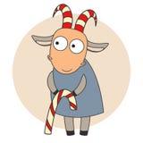 Goat. Pretty Christmas goat vector illustration Stock Image
