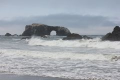 Goat Rock Beach is located between Goat Rock Point and the Russian River along the Sonoma County shore near the town of Jenner. The Russian River, with its Stock Images