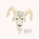 Goat With Rounded Horns Royalty Free Stock Image