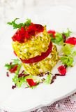 Goat's cheese with  nut and jelly Royalty Free Stock Photography