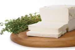Goat's milk cheese stock images