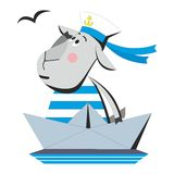 Goat sailor in ship 04 Stock Photography