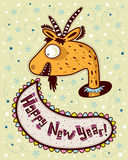 Goat says Happy New Year! Stock Photography