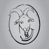 Goat scetch Royalty Free Stock Photos