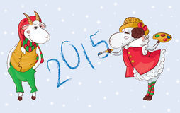 Goat sheep 2015 Stock Images