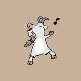 Goat singing Karaoke Stock Photography