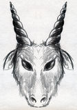Goat sketch Royalty Free Stock Image