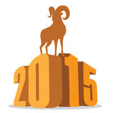 Goat standing on 2015 Chinese New Year Stock Image