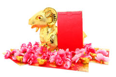 Goat Statue for Chinese New Year 2015 Royalty Free Stock Photography