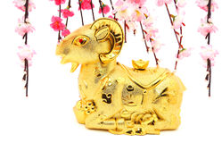 Goat Statue for Chinese New Year 2015 Stock Photo