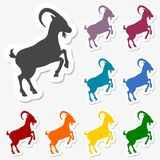 Goat stickers set. Vector icon royalty free illustration
