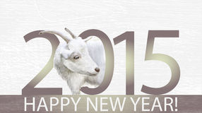 Goat is the symbol of 2015. For calendar stock illustration